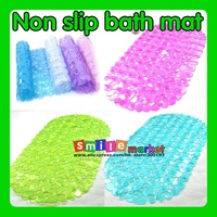 Free Shipping 1pieces/lot Non-slip PVC bath mat for Bathroom Toilet and Kitchen (Color:Purple,Blue,Green,White,Pink)