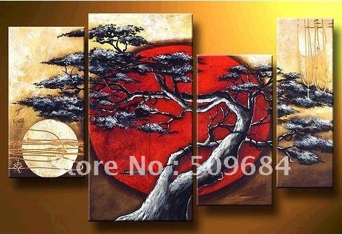 handmade oil painting 100% Free shipping New Modern Abstract Wall Ornaments Oil Paintin(China (Mainland))