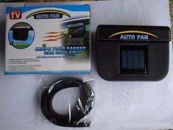 Automobile exhaust heat fan, solar exhaust fan, auto fan car fan 4 pcs Row heat fan
