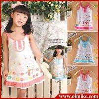 Free shipping 4pcs/lot wholesale 2012 New Children's fashion dresses Girlscoton dress Kids Dress harness dress CD026