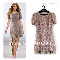 Sweet design lady dress, High quality embroidery material,  three color for choose,FREE SHIPPING!!!