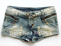 Free Shipping.2013 NEW Womens Denim Shorts Hot Pants 2 Colors S-M-L-XL 3271 Wholesale and retail