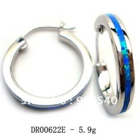 Earrings hoop Fire opal earrings 925 silver jewerly Free shipping DR00622E Free Shipping
