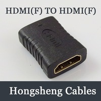 Free ShippingHDMI to HDMI Adapter/HDMI-F to HDMI-F Female Adapter video converter HDTV GOLD
