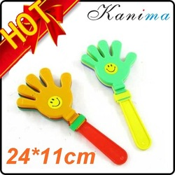 500 pcs/lot Crazy Selling Plastic Hand Clappers Cheering Stick Noise Maker 24CM High Quality Promotion N315(China (Mainland))