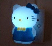 Lovely Blue Hello kitty led bulbs Night Lights wall lamp Bedside lamp