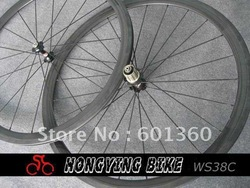 Wholesale 38mm carbon bicycle wheels,3k gloss finish carbon clincher wheelset 700c with basalt braking(China (Mainland))