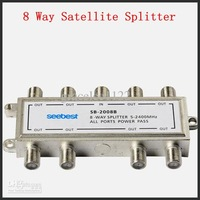 Free Shipping Satellite Splitter CATV Splitter 8 Way Satellite Splitter Low Insertion Loss