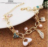 OMH ancient copper Unisex couple jewelry retro western style Ngau Tau pendant Bracelets Charm Bracelets SL98