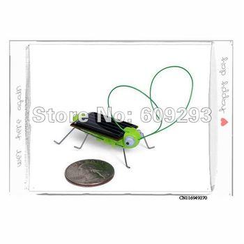 New Solar Grasshopper Solar Power Robot Insect Bug Locust Grasshopper Toy kid ,Economy Shipping