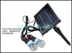Free shipping,solar powered lighting system,indoor solar home lighting system with 2 lighting Portable system(China (Mainland))