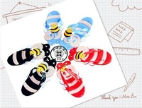 Free shipping 2012 new fashion bee children skidproof slipper