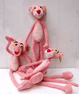 Candice guo! Hot sale super cute plush toy pink panther stuffed toy good for gift kits love most 70cm 1 PC(China (Mainland))