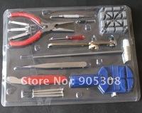16 Pieces Watch Repair Kit Set & Wrist Strap Adjust Pin Tool Kit Back Remover Fix