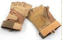 Black Hawk Tactical Duty Gloves Tan Half Finger free ship
