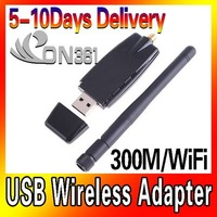 Mini 150Mps WiFi Wireless  LAN USB Network Card 802.11n/g/b Adapter with Antenna 10pc/lot  Free Shipping