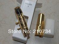 Wholesale - saxophone mouthpiece mental mouthpiece alto jazz golden color, number 6#