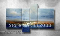 FREE SHIPPING!High Quality!Handmade living room WALL decor group seascape Oil Painting on Canvas,group OIL painting wholesale