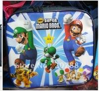 Free Shipping ! Fashion Super Mario Bros Children Cartoon Lunch Box Set (1bottle +1lunch-box+ bag) A0613 on Sale Wholesale