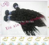 Brazilian virgin hair natural wave human hair weaves 14-28inch , color 1b# 3pcs/lot , DHL free shipping