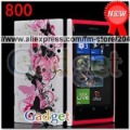 DHL Free shipping 50x Flower Heart Zebra Hard Back Case for Nokia Lumia 800