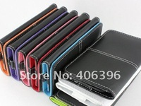 For iPhone 4S 4 Wallet Leather Case, With Credit Card Holder, 50Pcs/Lot, Free Shipping, High Quality