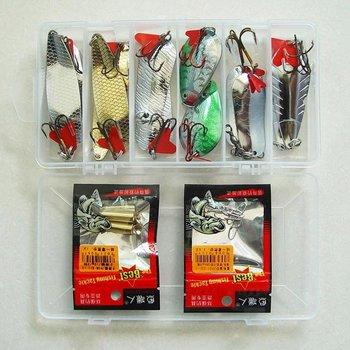 Free Shipping, Fishing  Lure,Metal spoon/Slope sequins,28g/1oz, 12pcs/box