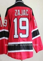 Free Shipping!!! New Jersey #19 Travis Zajac red jersey