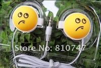 30pcs/lot good quality wholesale smile ear hook earphones headphones for music cellphone mp3 mp4 mp5 CD computer