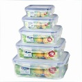 Fresh box,Food storage, fresh keeping box,plastic food container, combination 5pcs/set,wholesale,Free shipping