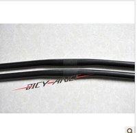 No brand Free shipping!Mtb 3K finish 106g UD carbon fiber bicycle flat bar cycling bike flat handlebar 580*25.4mm