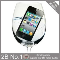 Latest Release 20pcs/lot Free Shipping New waterproof case waterproof skin water skin for iphone4 & 4s