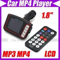 "New LCD Auto Car MP3 MP4 1.8"" Payer Wireless FM Transmitter SD/MMC w/Remote #3234"