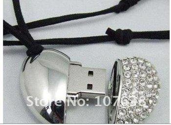 2012 new   True real  2GB   promotion!!! heart shape crystal usb flash drive@21