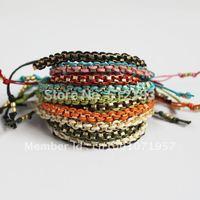 "Fashion single-row yellow gold ""hollow nuggets"" Bracelets Antique Alloy Woven Bracelet Handmade Braided Bracelet Jewlery SL507"