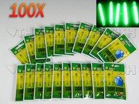 Promotion!!100PCS(20Bags) Per Lot 4.5*37mm Fluorescent Chemical Glow Stick Green Fishing Lighting