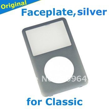 original silver front panel face plate for iPod 6th Classic parts, free shipping(China (Mainland))