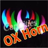 wholesales Olympic Games  fashion novel LED Devil OX horn hook light /headband /headwear,Christmas / Party / Festival / Concert