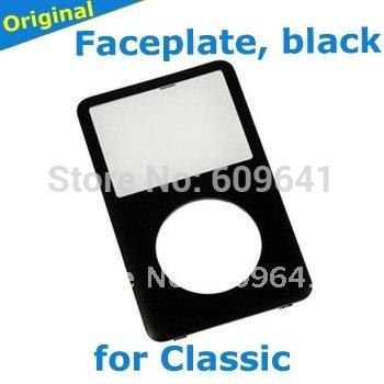 black original front panel for iPod Classic, free ship(China (Mainland))