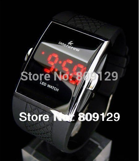 Hot IC3905 Square Digital Electronic LED Watch Red Light For Men Sports Watches (4 Color)(China (Mainland))