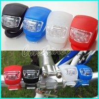 200pcs/LOT silicone 2 LED bicycle light / LED Bike Light + Free Shipping / Drop Shipping