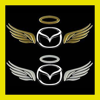 [Free shipping] Wholesale - New Design 3D Grave badges Car Stickers PVC Personality Car Decoration Angel wings Sticker(China (Mainland))