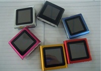 "Free shpping Real 2GB 4GB 8GB 16GB SD TF memory Card 1.8"" LCD 6th clip Digita MP3 MP4 Player"