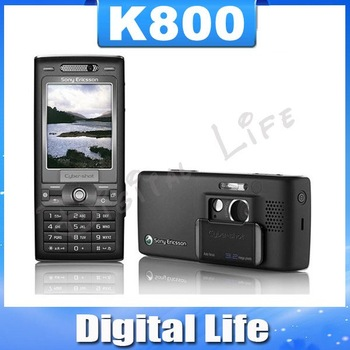 K800 Sony ericsson  k800i Original Unlocked Cell Phone,3G, GSM Tri-Band , 3.2MP Camera, Bluetooth, FM Radio, JAVA, Free Shipping