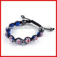 London Olympic UK flag shamballa bracelet