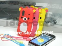 2012 New Design Rilakkuma Lazy Bear Soft Back Case for HTC Amaze 4G Ruby G22,With high quality,free shipping 1pcs min order