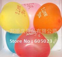 500pcs/lot  Romantic incoming Olympic season heart-shaped I LOVE YOU heart-shaped balloon