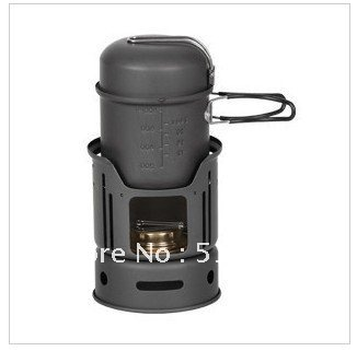 Outdoor picnic jacketed kettle alcohol stove seven parts , 1-2 people picnic furnace      FREE SHIPPING    Easy to carry