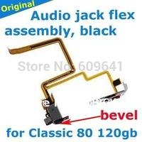 black original earphone headphone jack flex cable for iPod Classic 80gb 120gb