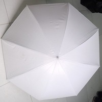 "New 43"" inch Photography Photo White Silver Reflective Umbrella Flash Light"